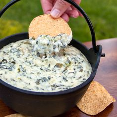 This Spinach and Artichoke Dip is too easy. Jalapenos bring some nice heat to it. Warning: Highly Addictive.