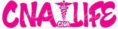 CNA Life Vinyl Decal Certified Nursing Assistant Life Sticker Caduceus   LilBitOLove - Housewares on ArtFire