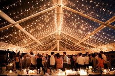 That TENT! Love the string lights and clear ceiling! Photo: Olivia Rae James / Floral Design: Love 'n Fresh Flowers | Snippet & Ink