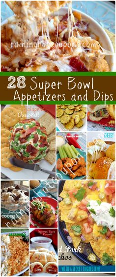 28 Super Bowl Appetizers and Dip Recipes - Raining Hot Coupons