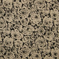 3 Day Blinds Curtains Sample, Pattern: Irish Rose, Color: Noir, Pattern Repeat: H: 17.75 inches, V: 36.5 inches, Material: 100 percent Linen, Dimensions in Inches: 20 x 20