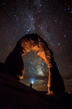 Milky Way Illumination At Delicate Arch, Utah