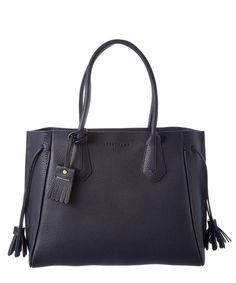 LONGCHAMP Longchamp Penelope Leather Tote Bag'. #longchamp #bags #leather #hand bags #tote #lining #