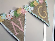 burlap and letters spring bunting