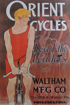 Vintage Bicycle Posters: Orient Cycles by Mikael Colville-Andersen, via Flickr #cyclesafe #tweedrun