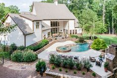 A great view of this backyard patio in Georgia. Photo by Jordan Nelson