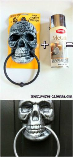 Metallic Skull Door Knocker