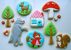 If u ever want custom cookies - she is amazing! Little Red Riding Hood Cookies