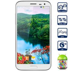 5.3 inch Kingelon G9000 Android 4.2 3G Smartphone MTK6592 Octa Core 1.7GHz 2GB RAM 16GB ROM FHD Screen GPS 13.0MP Camera (WHITE) | Everbuying.com
