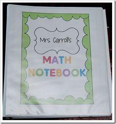 First grade math notebooks