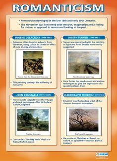 From our Art poster range, the Romanticism Poster is a great educational resource that helps improve understanding and reinforce learning. Art History Periods, Art History Major, Art History Lessons, Art Periods, Art Lessons, History Projects, Study History, European History, History Books