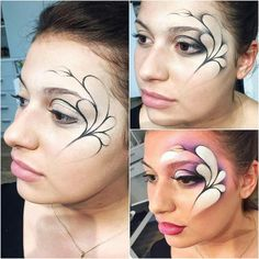 Makeup Eye Looks, Body Makeup, Diy Face Paint, Steampunk Makeup, Competition Makeup, Adult Face Painting, Festival Makeup Glitter, Fantasy Make Up, Creative Makeup Looks