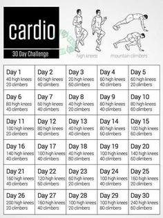 30 day cardio challenge #cardio #fitness #cardiochallenge