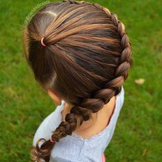 Braids For Kids Ponytail Girl Hairstyles 47 Ideas Girly Hairstyles, Little Girl Hairstyles, Ponytail Hairstyles, Side Hairstyles, Ponytail Girl, Girl Hair Dos, Braided Ponytail, Little Girl Braids, Braids For Kids