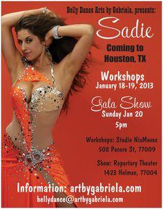 Sadie - Workshops and Gala Show in Houston, January 2013