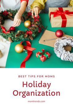 Five ideas to get you ready for the busiest and best season of the year. With a plan you can thrive during the holidays. #organization #holidays Christmas Snacks, All Things Christmas, Christmas Holidays, Christmas Wreaths, Christmas Crafts, Family Holiday, Holiday Fun, Festivus, Holiday Themes