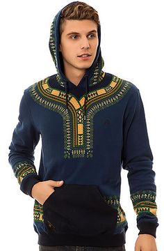 The Dashiki Hoody in Navy