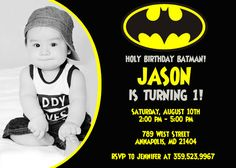 Batman Superhero Birthday Party Invitation By FunPartyPrintable 899