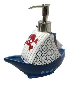 amazoncom kassatex bambini pirate bath collection accessories lotion dispenser prints
