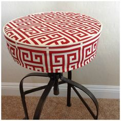 Round Ed Barstool Seat Cover With Piping By Brittaleighdesigns Bar Stool Covers
