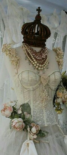 Dtess form with corset and crown