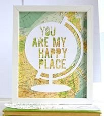 Happy-place-globe-vintage-map-papercut-art-type-1449074705