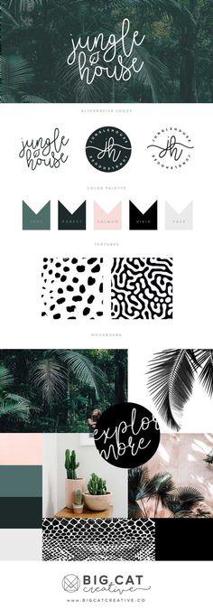 Business infographic & data visualisation Branding Style Board for Jungle House Site Web Design, Graphisches Design, Design Logos, Modern Logo Design, Design Model, Design Ideas, Brand Identity Design, Corporate Design, Brand Design