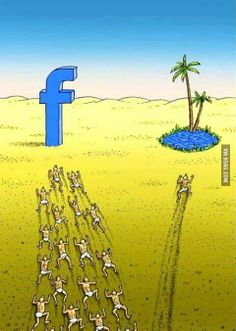 """In today's world, numerous people want to be social media famous hence all the precious time to enjoy this and life world, to be completely present in the moment is spent """"online"""" and not """"onEarth"""" Facebook Jokes, Facebook Users, Facebook Police, Pictures With Deep Meaning, Satirical Illustrations, Art Illustrations, Meaningful Pictures, Deep Art, Socialism"""
