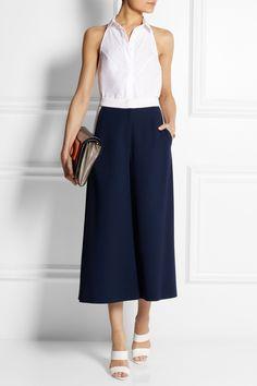 Roksanda Ilincic Hepworth wool-crepe wide-leg culottes NET-A-PORTER.COM
