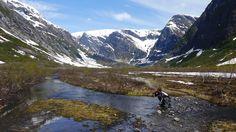 At the glacial tongue of Svartisen glacier (Austerdalsisen), Norway