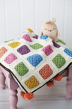 Transcendent Crochet a Solid Granny Square Ideas. Inconceivable Crochet a Solid Granny Square Ideas. Striped Crochet Blanket, Easy Crochet Blanket, Afghan Crochet Patterns, Crochet Motif, Crochet Baby, Free Crochet, Knit Crochet, Crochet Blankets, Blue Blanket