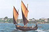 """""""Mari-Lizig"""", Kerhor boat replica, Roadstead  of Brest"""