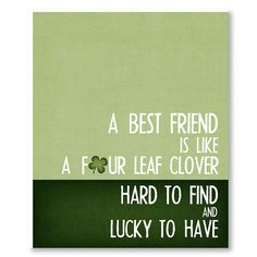 St Patricks Day Decor  Four Leaf prints  Best by PaperFinchDesign, $15.00