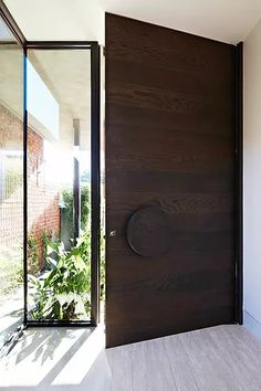 Checkout these modern front door ideas for your home. Thirty unbelievable front door ideas for your modern home. Feed your design ideas now. Modern Wood Doors, Wood Entry Doors, Wooden Front Doors, Modern Front Door, Front Door Design, Entrance Doors, House Entrance, Apartment Entrance, Timber Door