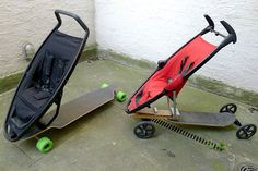 longboard stroller: an experiment in urban mobility - designboom