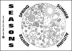 Four Seasons Coloring Page