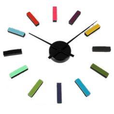 Reloj de Pared Adhesivo Multicolor... para gustos, las horas!