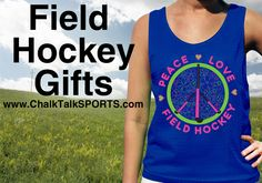 All the best gifts for field hockey players. Shirts, pinnies, jewelry and more! Personalize it for a special touch.