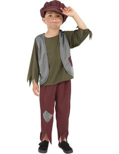 Arme Victoriaanse Jongen Kostuum ==> Feestkleding 365!