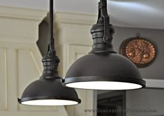 farmhouse light fixtures | French Farm House Kitchen Progress: Paint and Light Fixtures