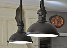farmhouse light fixtures | French Farm House Kitchen Progress: Paint and Light Fixtures