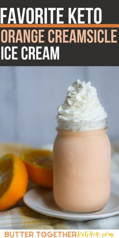 Who doesn't love ice cream on a hot summer day? Cool down with this  amazing creamy keto orange creamsicle ice cream! This keto ice cream is so good you would think it's so bad for you, BUT it not! It is SO easy to make and everyone will love it! #ketoicecream #ketocreamsicle #orange #ketodessert #keto #sugarfree #healthy #healthyrecipes Keto Dessert Easy, Easy Desserts, Dessert Recipes, Orange Creamsicle Ice Cream Recipe, Low Carb Ice Cream, Love Ice Cream, Ice Cream Recipes, Low Carb Keto, Keto Recipes