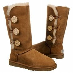 UGG Boots Bailey Button Triplet (Chestnut) - Women's UGG Boots- 9.0 M