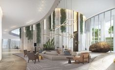 Drawing inspiration from Coconut Grove's visual vocabulary and Florida's barrier islands, One Park Grove is one of the three exclusive residential towers in Miami's Park Grove community. Its creators, Rem Koolhaas and feted international architecture p...