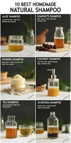 10 NATURAL ORGANIC DIY SHAMPOO RECIPES FOR HEALTHY HAIR GROWTH - The Little Shine