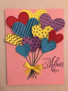 Mother day card mothersdaycard mothersday card diy mom 4 easy mother s day cards to make Kids Crafts, Diy Mother's Day Crafts, Mothers Day Crafts For Kids, Diy Mothers Day Gifts, Mother's Day Diy, Crafts For Kids To Make, Mothers Day Cards Homemade, Happy Mothers, Diy Gifts