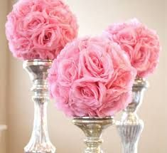 diy wedding decor with silk flowers, tulle, ribbon - Google Search