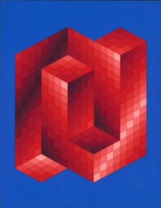 Would love to make this into a quilt - artist Victor Vasarely