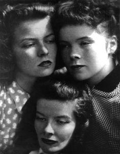 Katharine Hepburn + her sisters © Martin Munkacsi