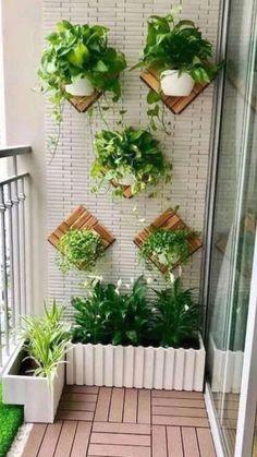 Small Balcony Design, Small Balcony Garden, Small Balcony Decor, Balcony Plants, House Plants Decor, Plant Decor, Small Balconies, Balcony Ideas, Small Terrace